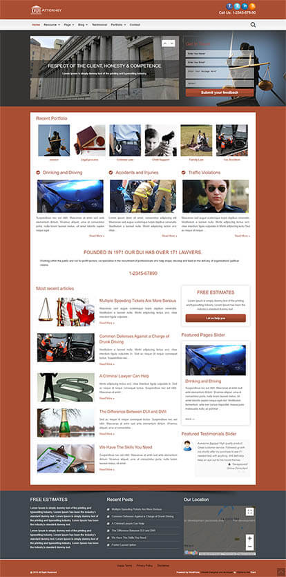 DUI Attorney WORDPRESS THEME Full Demo