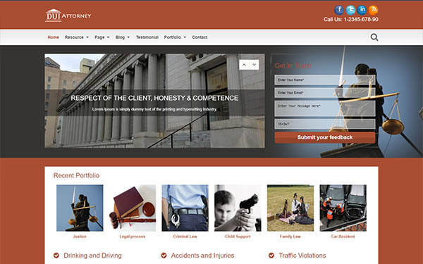 DUI Attorney WordPress Theme
