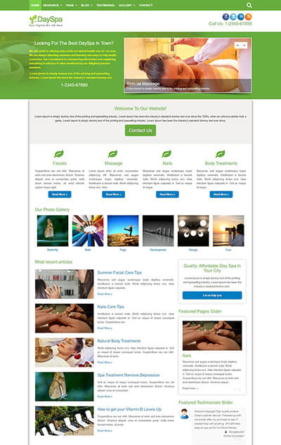 DaySpa WordPress Theme