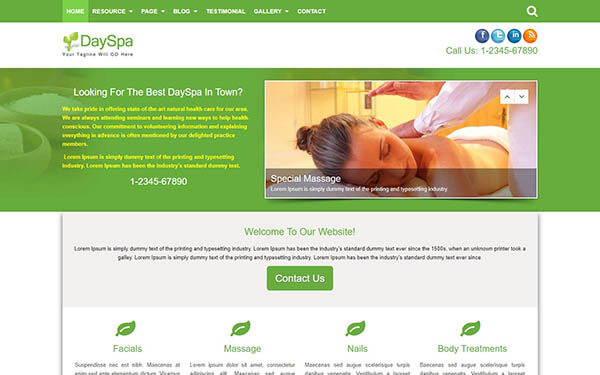 DaySpa WordPress Theme