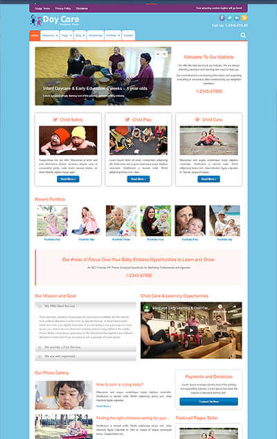 DayCare WordPress Theme