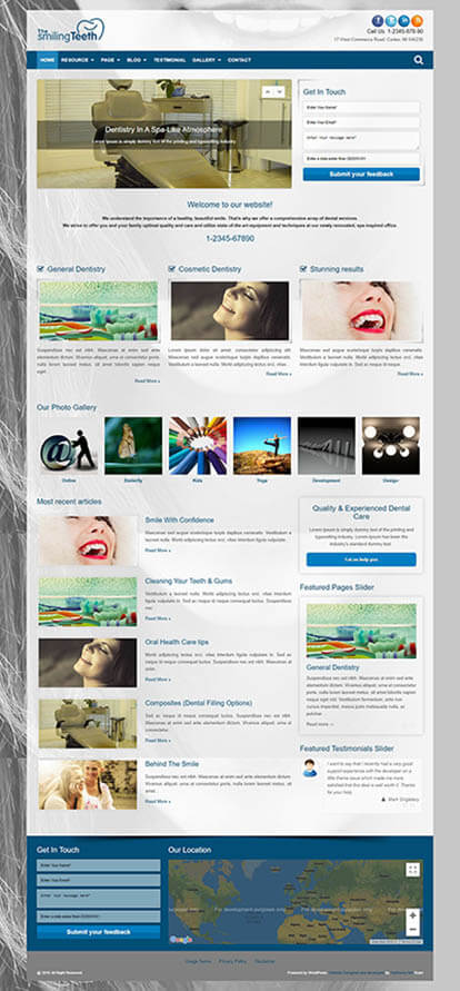 Dentist WORDPRESS THEME Full Demo