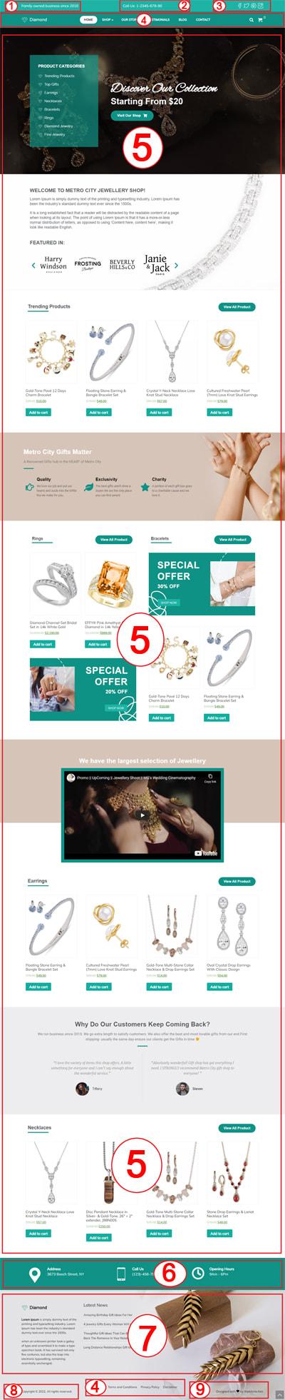Diamond – Jewellery eCommerce  WordPress Theme Documentation