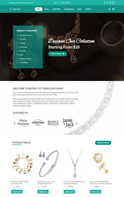 Diamond – Jewellery eCommerce  WordPress Theme