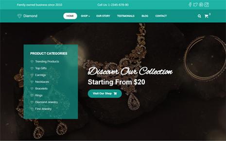 Diamond – Jewellery eCommerce  WordPress Theme