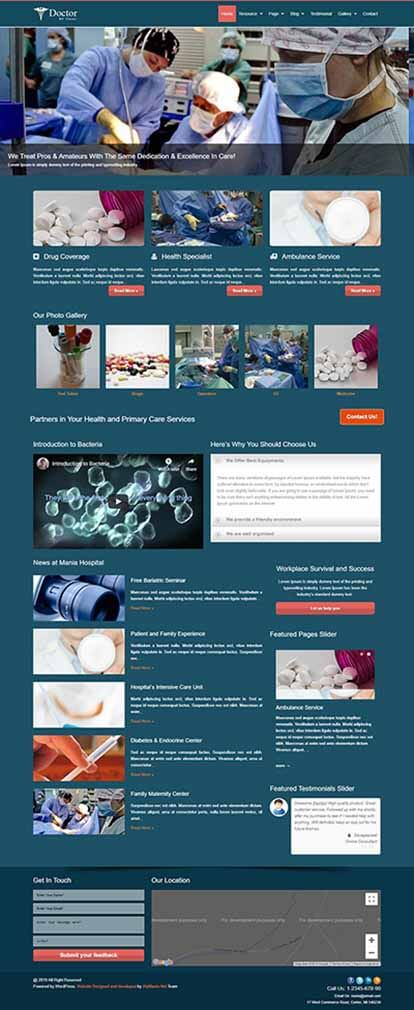 Doctor WORDPRESS THEME Full Demo