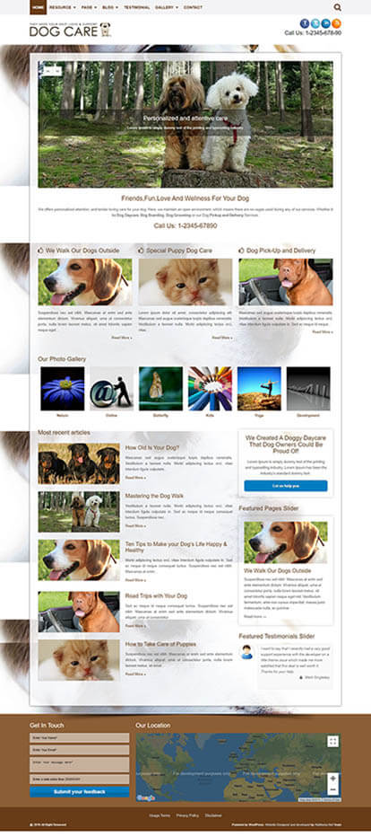 Dog Care WORDPRESS THEME Full Demo
