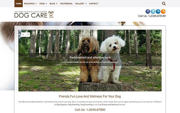 Dog Care WordPress Theme