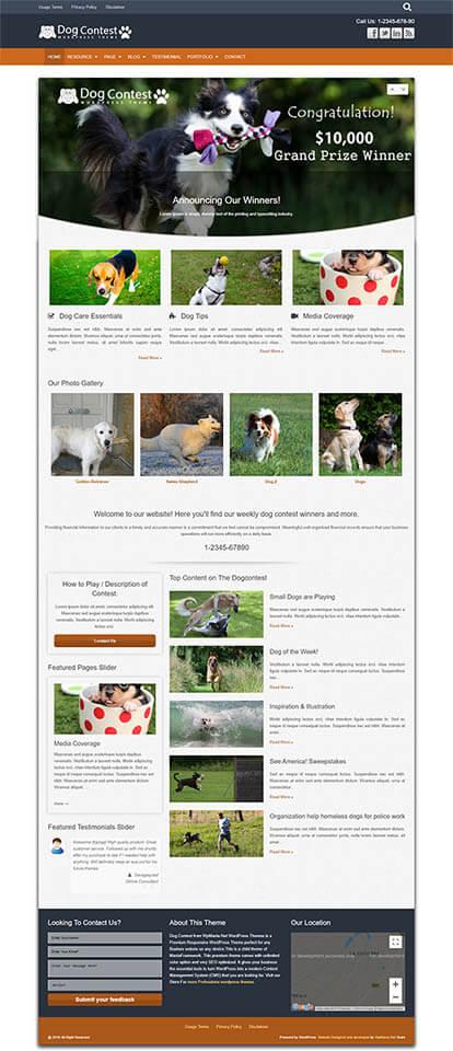 Dog Contest WORDPRESS THEME Full Demo