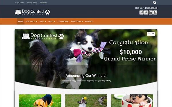 Dog Contest WordPress Theme