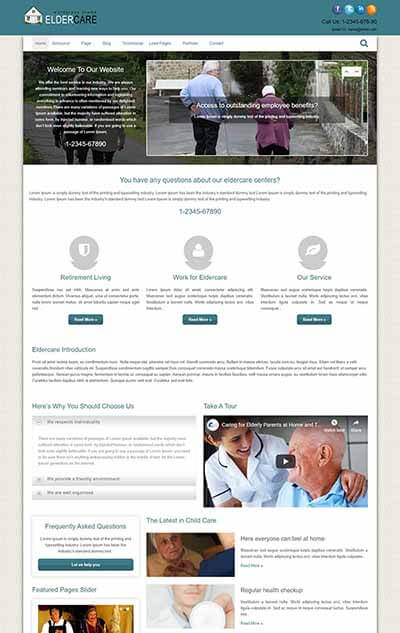 Elder Care WordPress Theme