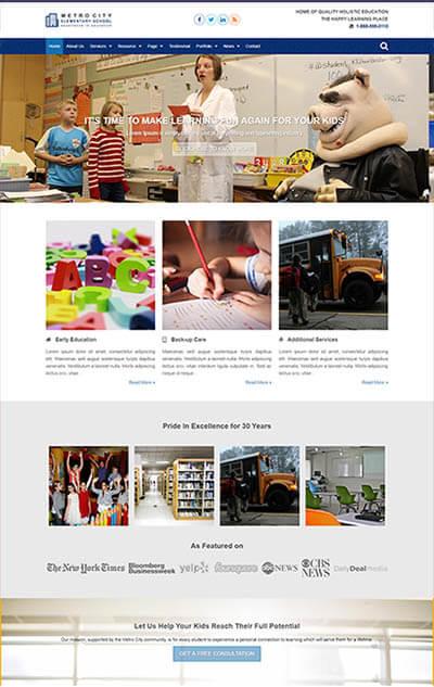 Elementary School WordPress Template