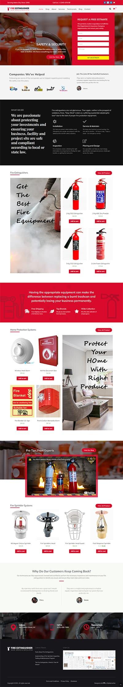 Fire Extinguisher WORDPRESS THEME Full Demo