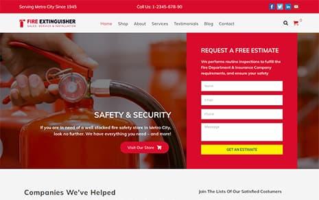 Fire Extinguisher WordPress Theme