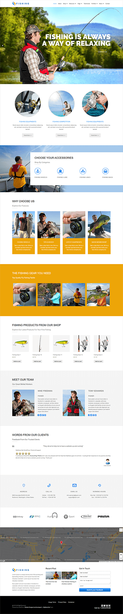 Fishing WORDPRESS THEME Full Demo