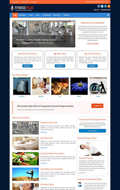 Fitness Plus WordPress Theme