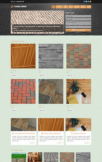 Flooring Company WordPress Theme