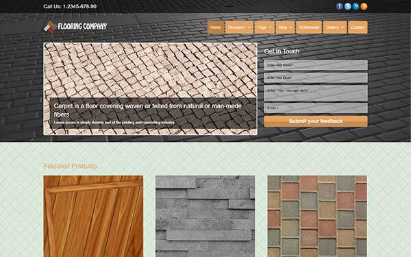 Flooring Company WordPress Theme