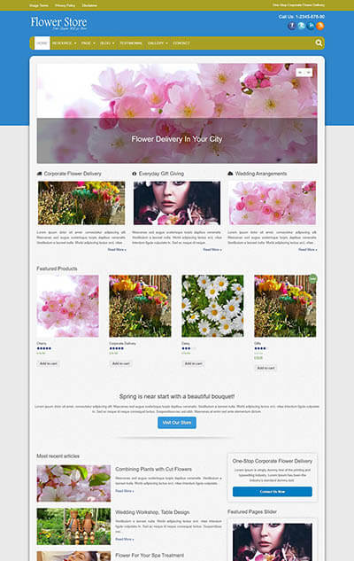 Flower Store WordPress Theme
