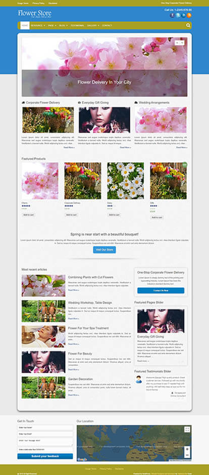 Flower Store WORDPRESS THEME Full Demo