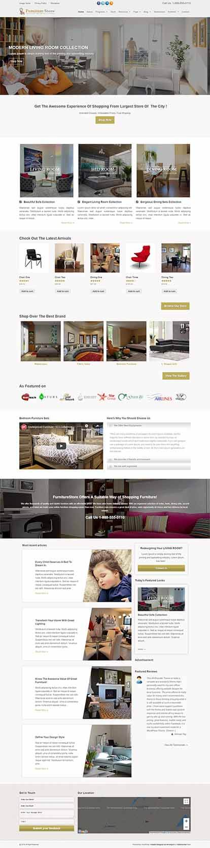 FurnitureStore WORDPRESS THEME Full Demo