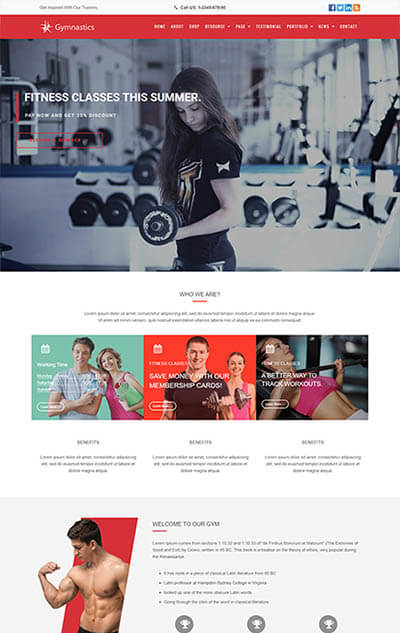 Gymnastics – GYM & Fitness WordPress Theme