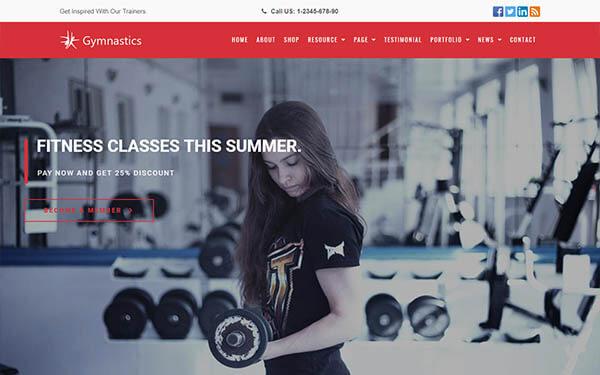 Gymnastics – GYM & Fitness WordPress Theme