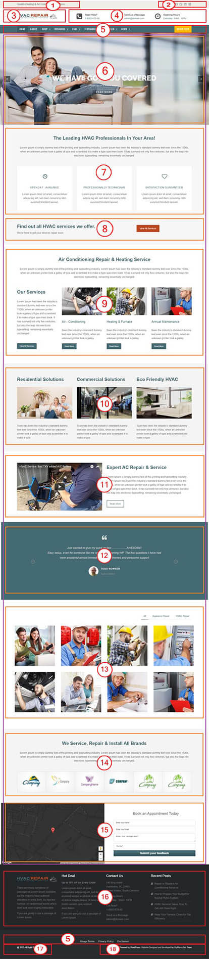 HVAC Repair WordPress Theme : Website Template For HVAC Professionals Documentation