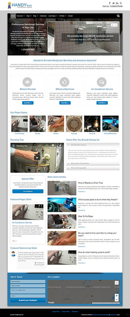 Handyman WORDPRESS THEME Full Demo
