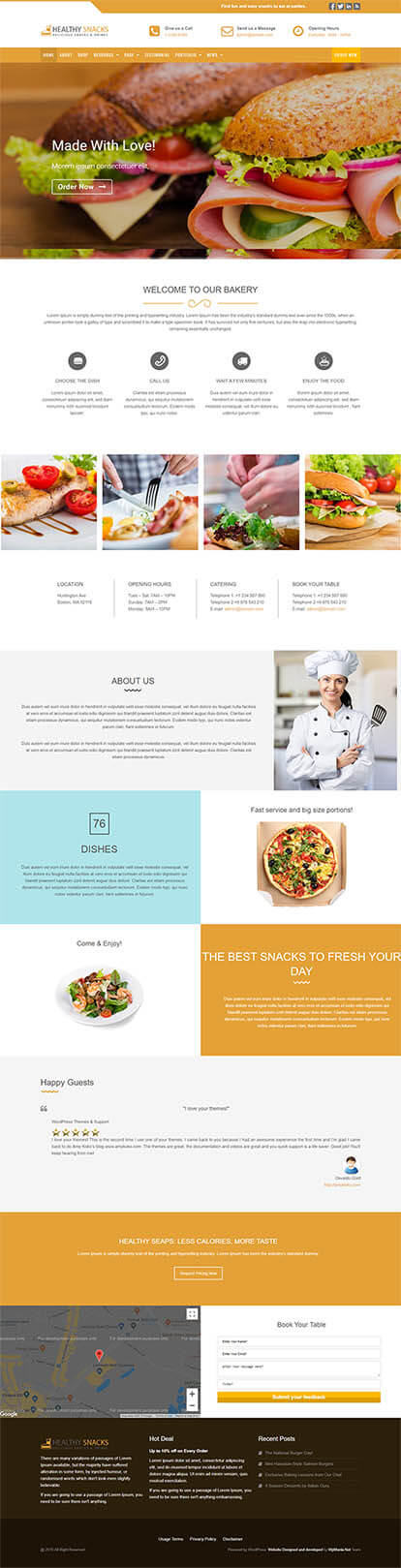 Healthy Snacks WORDPRESS THEME Full Demo