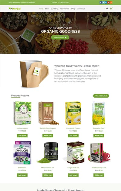 Herbal – Responsive Organic WordPress Theme