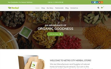 Herbal – Responsive Organic WordPress Theme