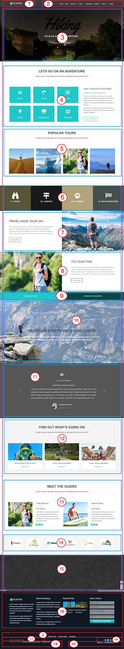 Hiking WordPress Theme – Adventure, Tours & Travel Website Template Documentation