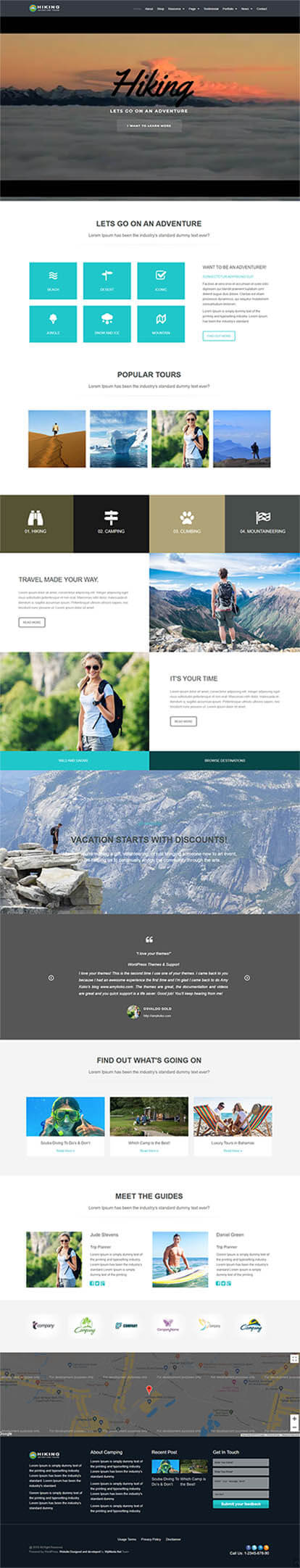 Hiking WORDPRESS THEME Full Demo