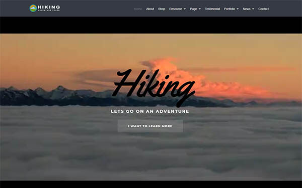 Hiking WordPress Theme – Adventure, Tours & Travel Website Template