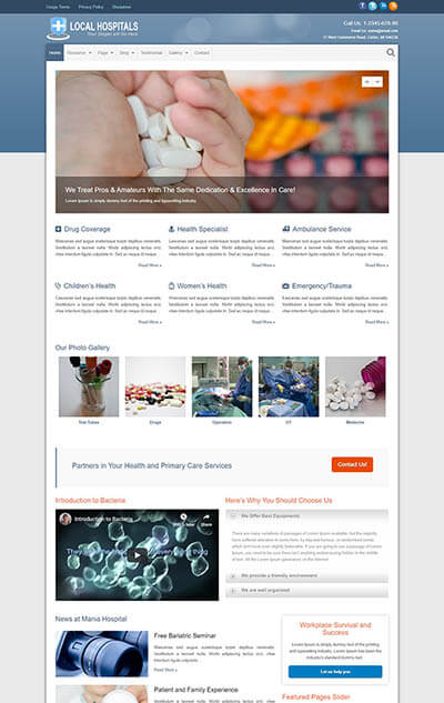 Hospitals WordPress Theme