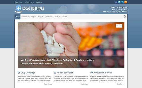 Hospitals WordPress Theme