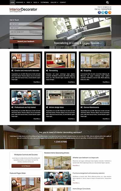 Interior Decorator WordPress Theme