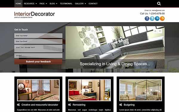 Interior Decorator WordPress Theme