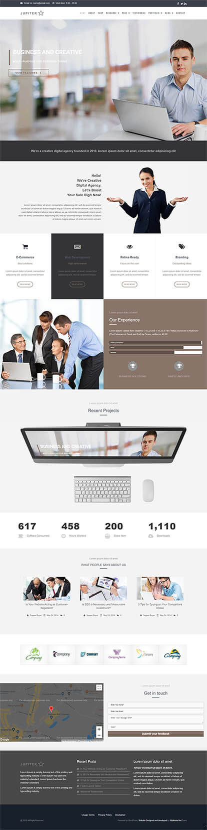 Jupiter WORDPRESS THEME Full Demo