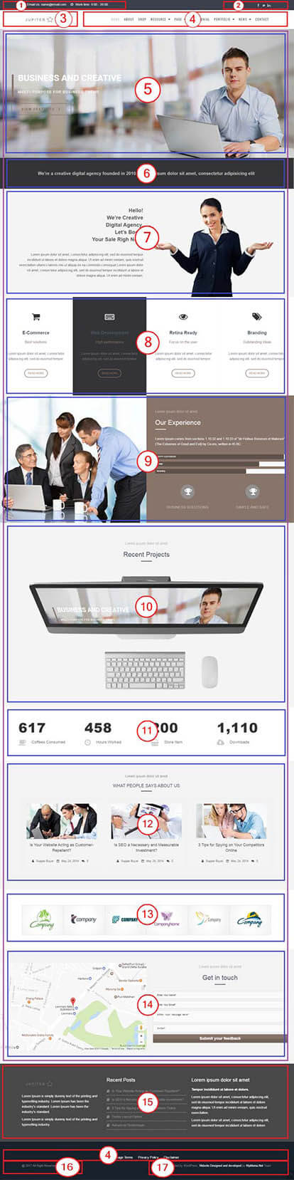 Jupiter Multi-Purpose WordPress Theme | Corporate Website Template Documentation