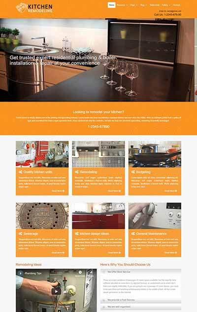 Kitchen Remodeling WordPress Theme