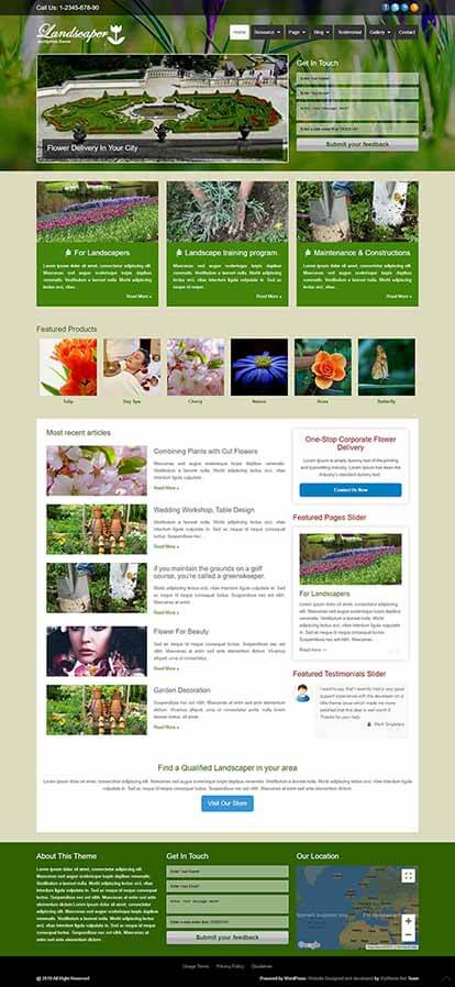 Landscaper WORDPRESS THEME Full Demo