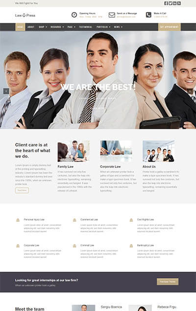 LawPress – Lawyers WordPress Theme