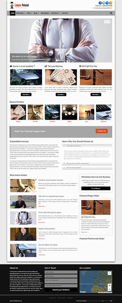 Lawyers WORDPRESS THEME Full Demo
