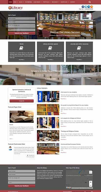 Library WORDPRESS THEME Full Demo