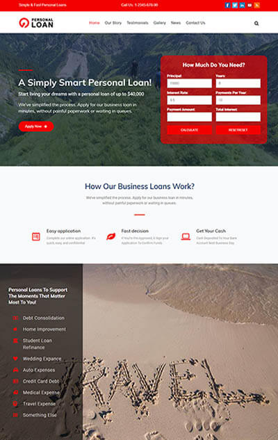 Loan Officer WordPress Theme