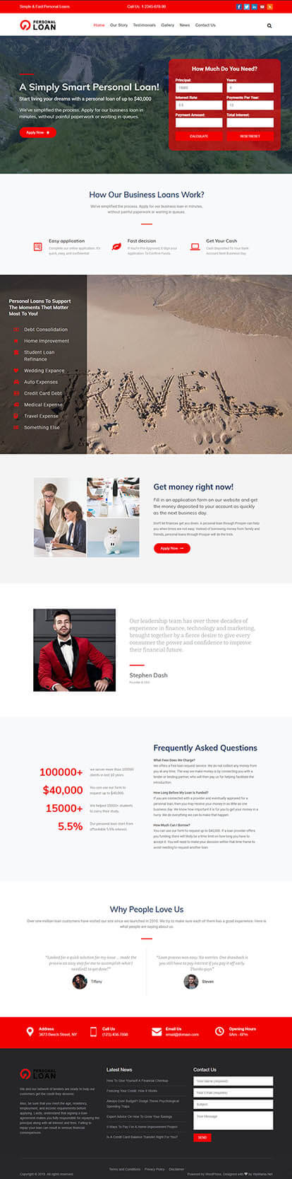 Loan Officer WORDPRESS THEME Full Demo