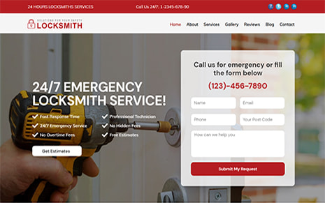 Locksmith WordPress Theme For Locksmith & Security Professionals