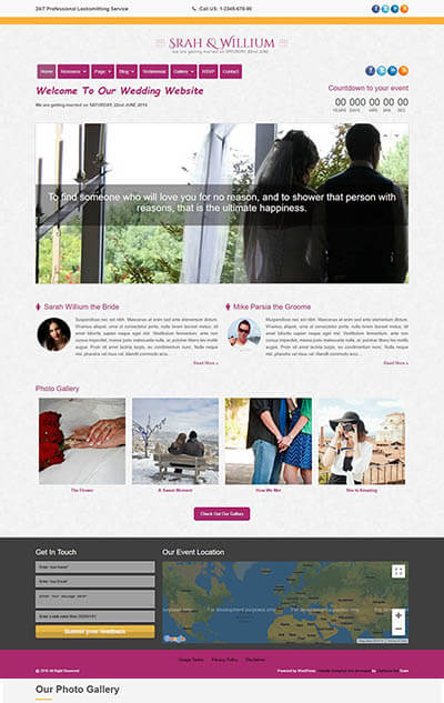 Loveria Wedding WordPress Theme